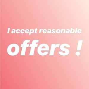 Make me an offer on any item!